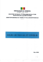 GUIDE MILIEU DE TRAVAIL ET COVID 19